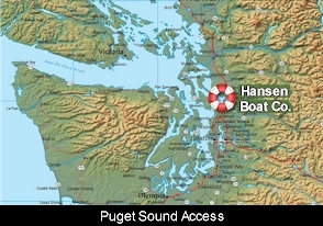 Hansen Boat Co Location Map
